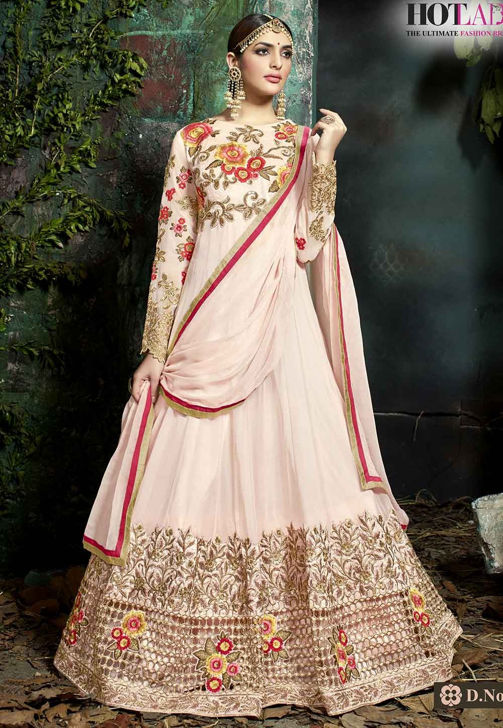 Peach Color Designer Salwar Suit.