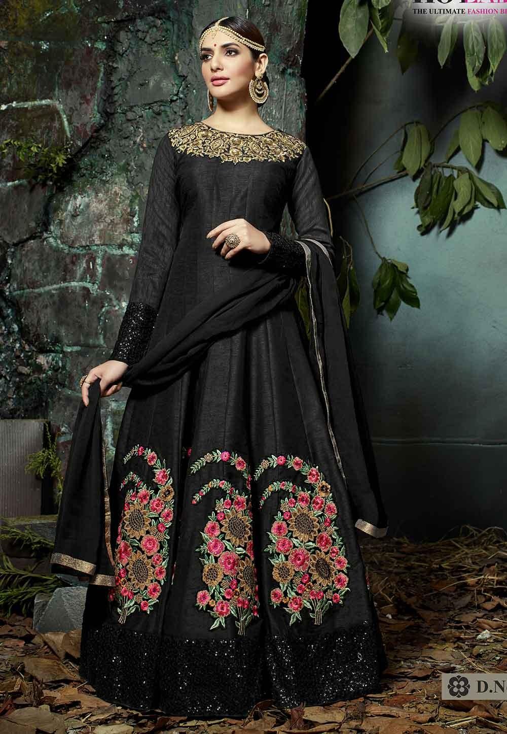 Black Color Party Wear Salwar Suit.
