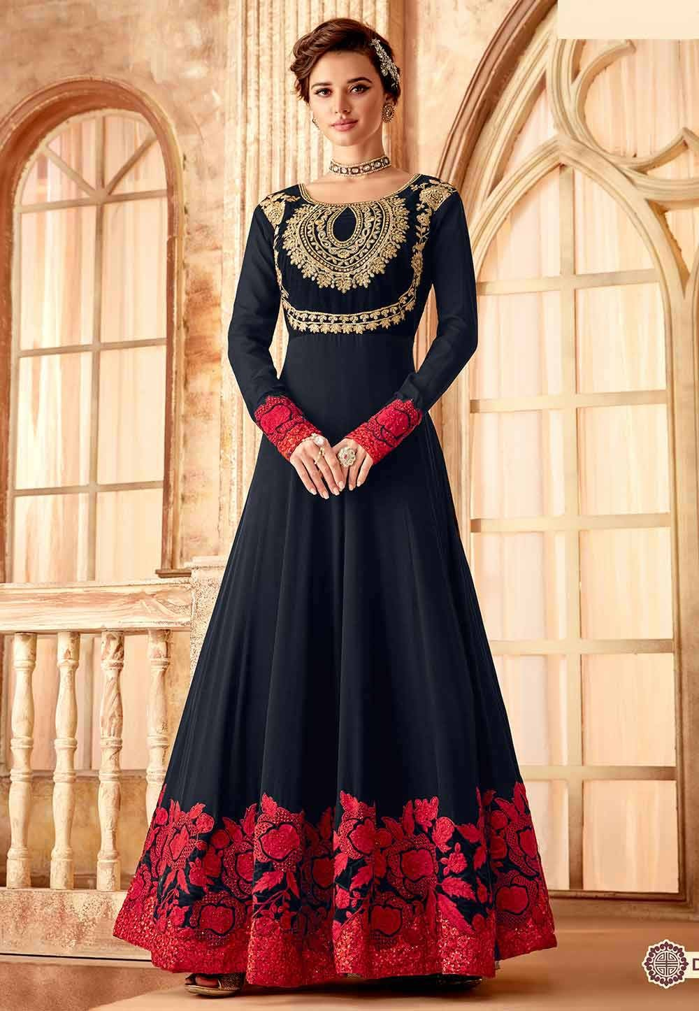 Black Party Wear Salwar Suit.