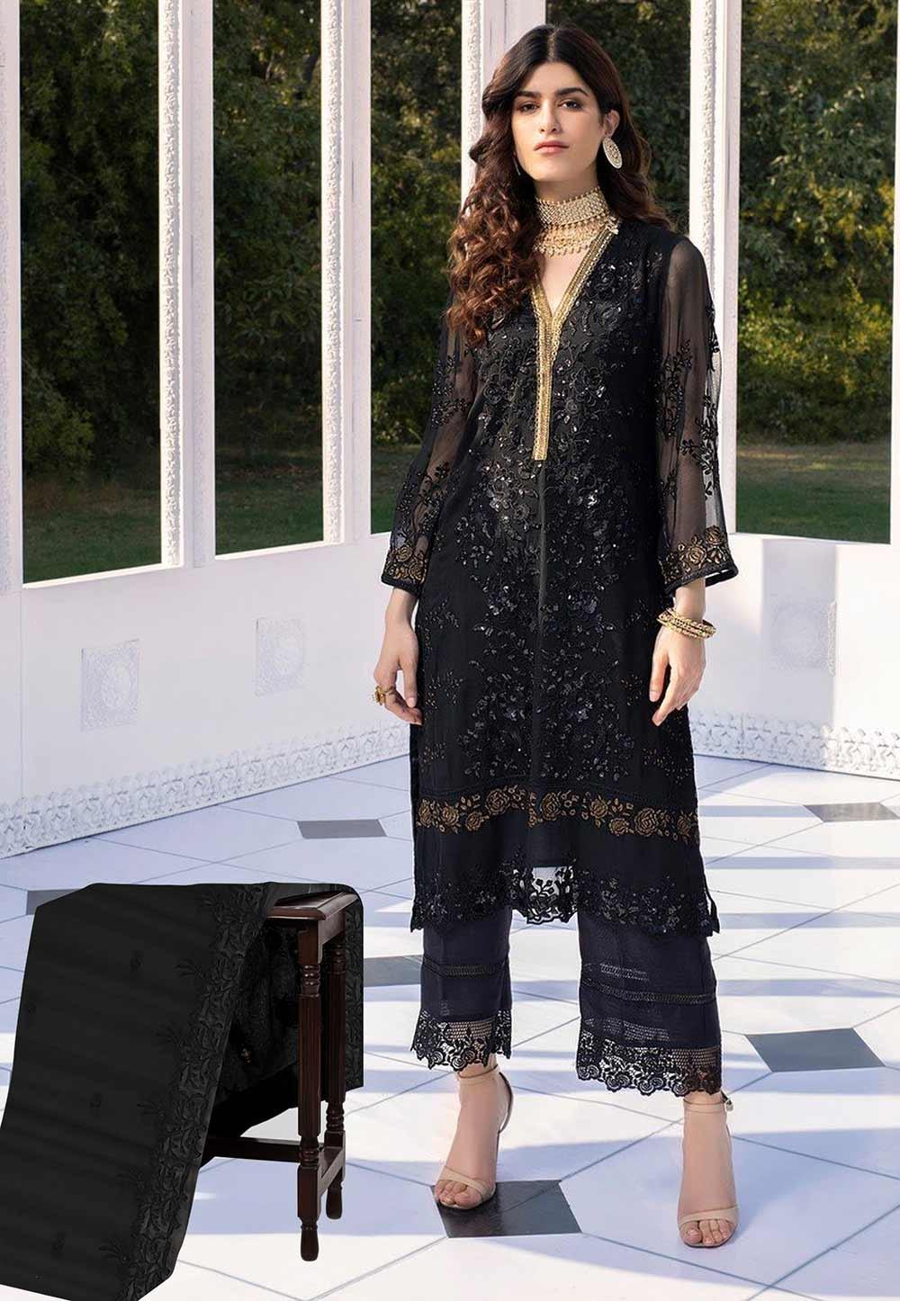 Black Colour Net Party Wear Salwar Suit.
