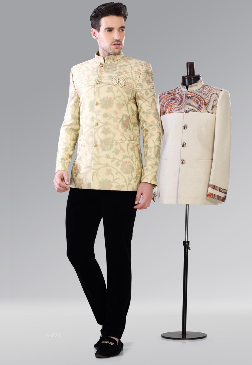 Unique Brown,Pink Color Traditional Jodhpuri Suits