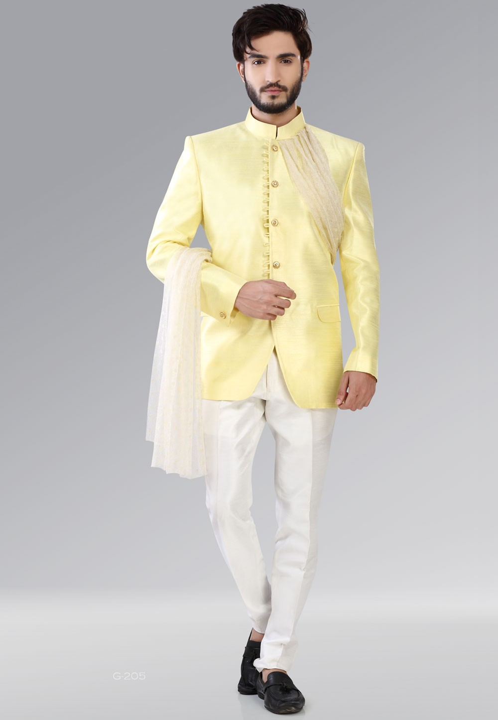 Yellow Color Rajwada Style Traditional Jodhpuri Suits
