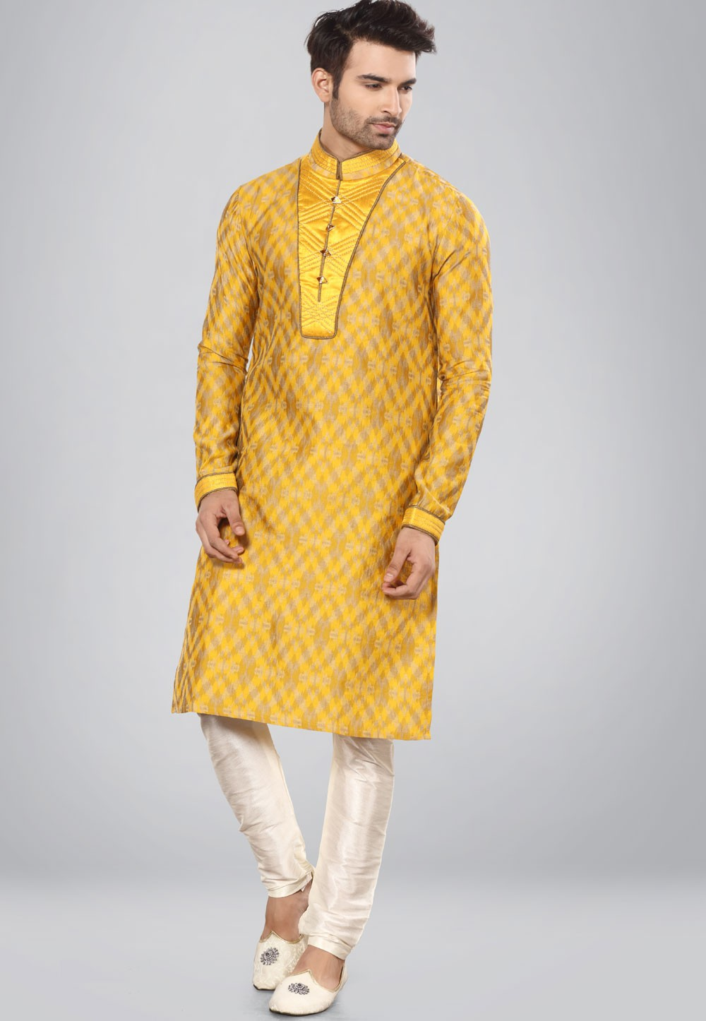 Yellow,Golden Color Imported Kurta Pajama.