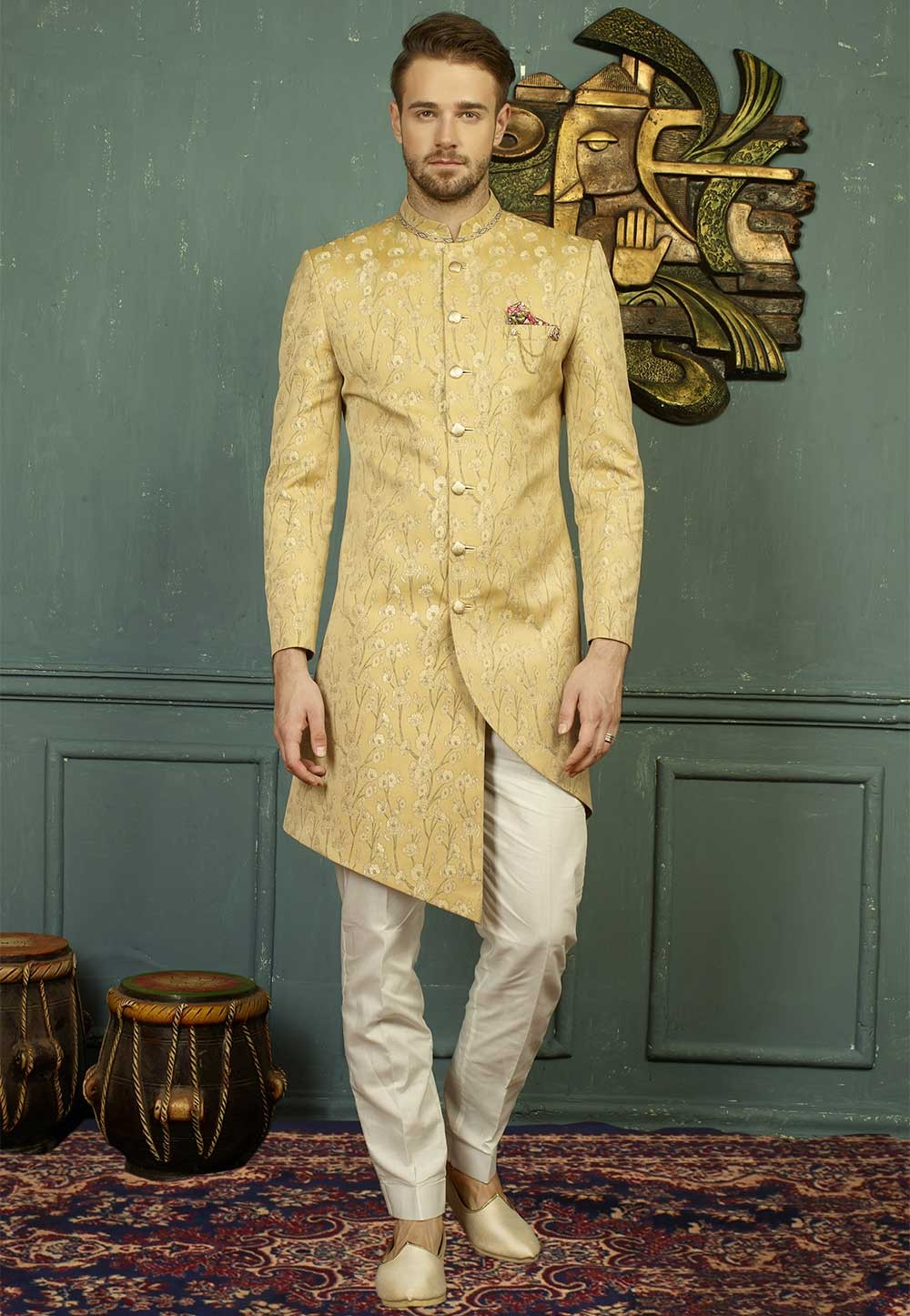 Golden Color Indo western dress for men