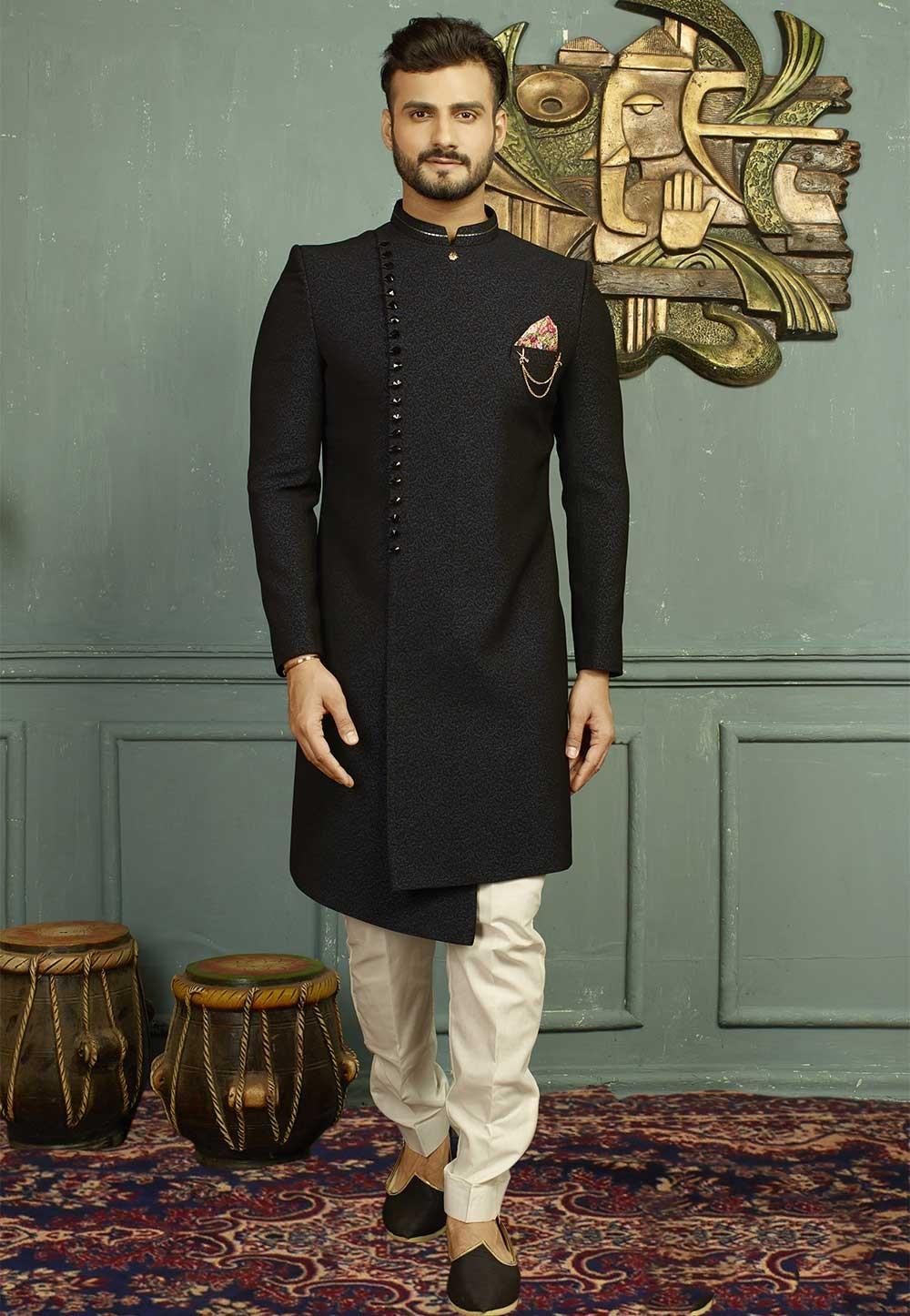 Blue,Black Color Indo western suits for mens