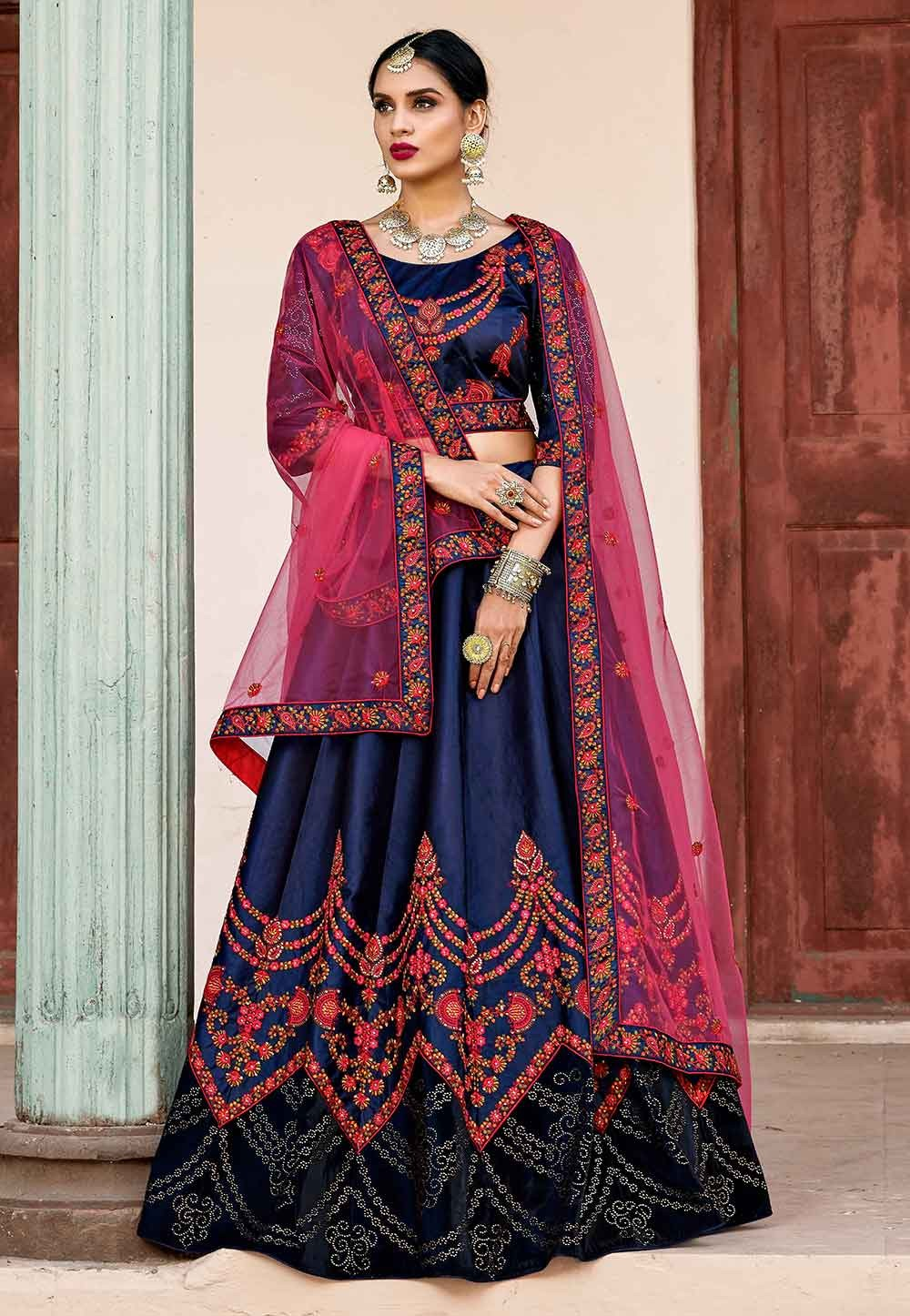 Blue Color Designer Lehenga.