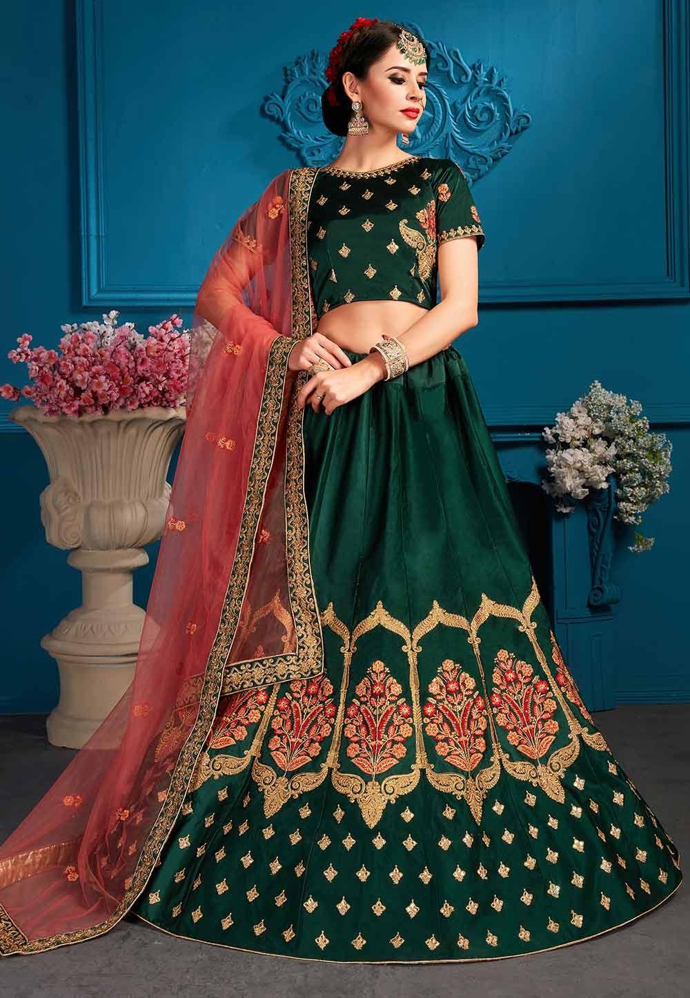 Green Colour Lehenga choli for bridesmaid