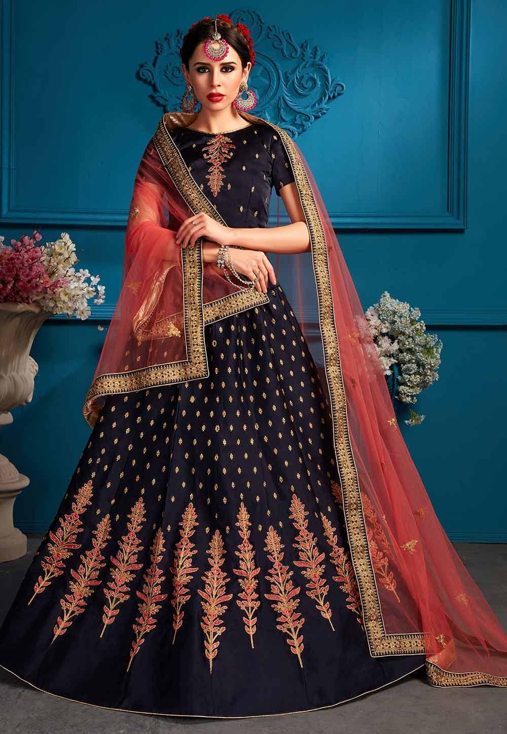 Blue Colour Lehenga choli for bridesmaid