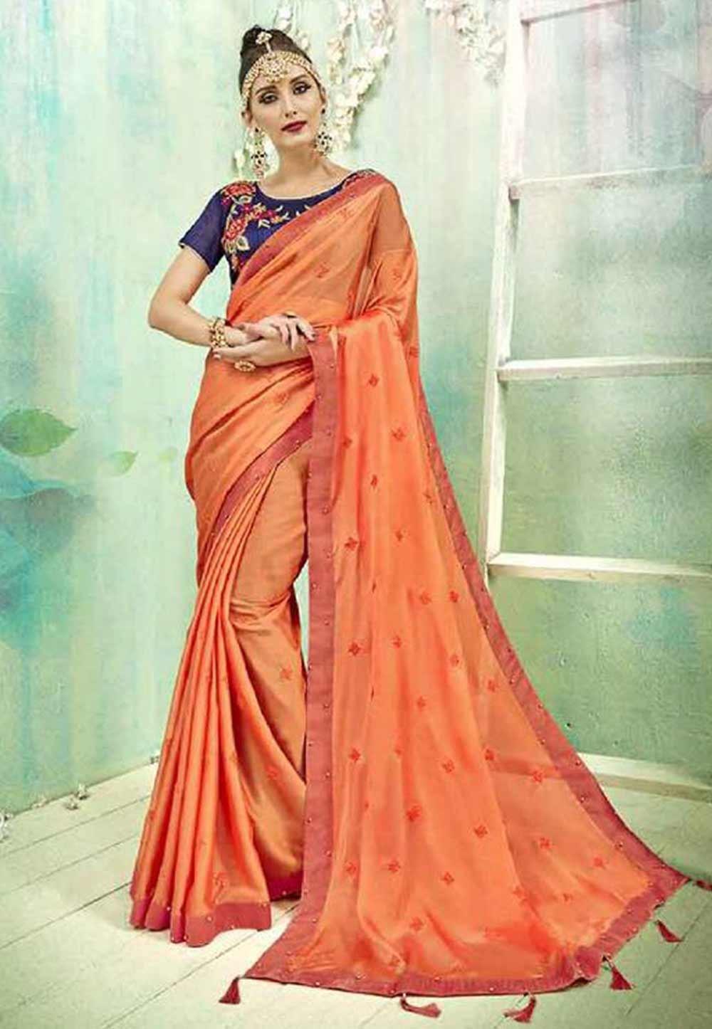 Orange Colour Saree.