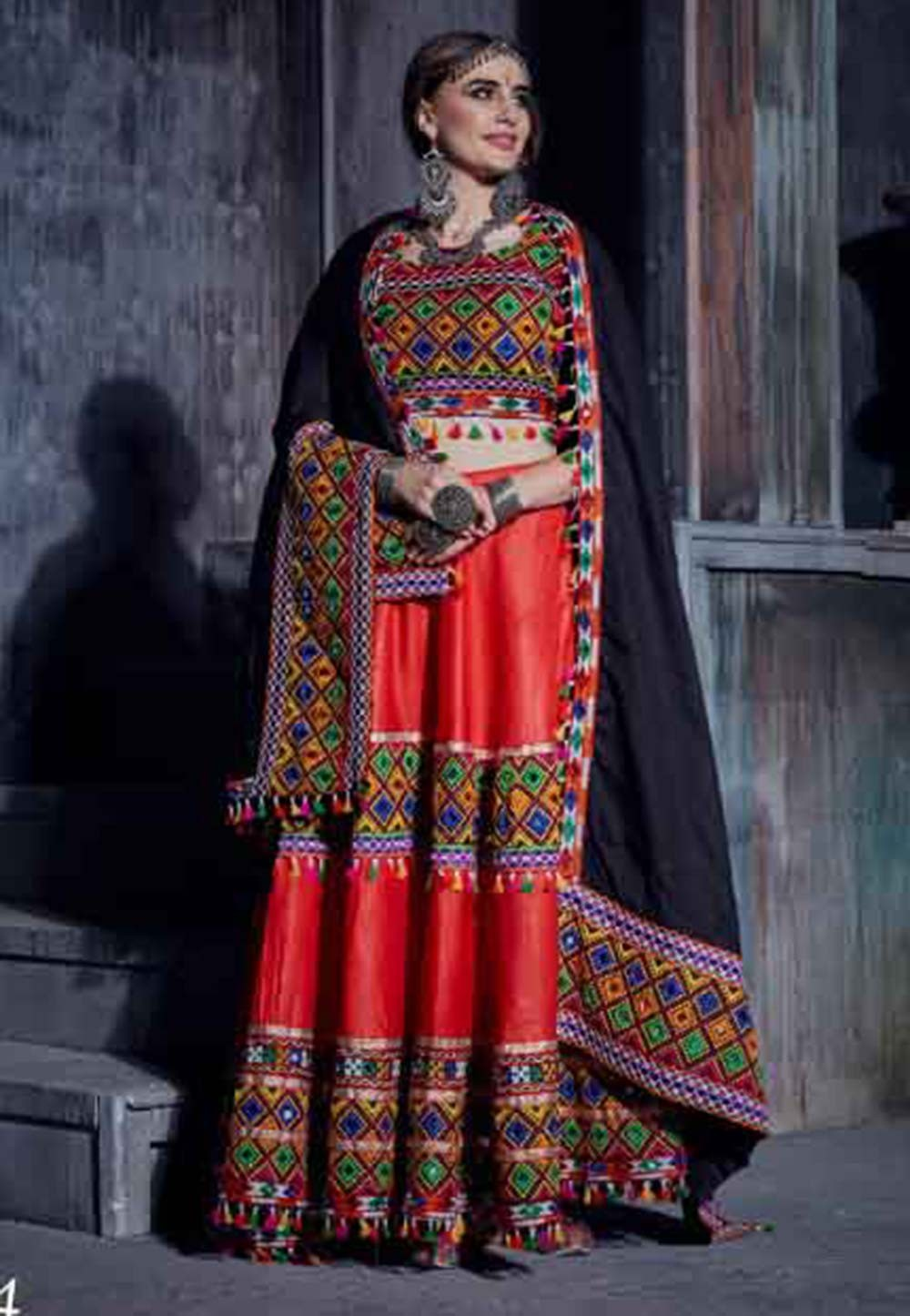 Red Colour Designer Lehenga Choli.