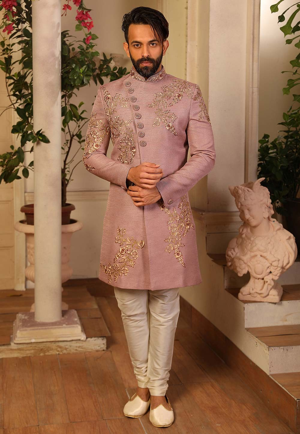 Banarasi Silk Party Wear Indowestern.