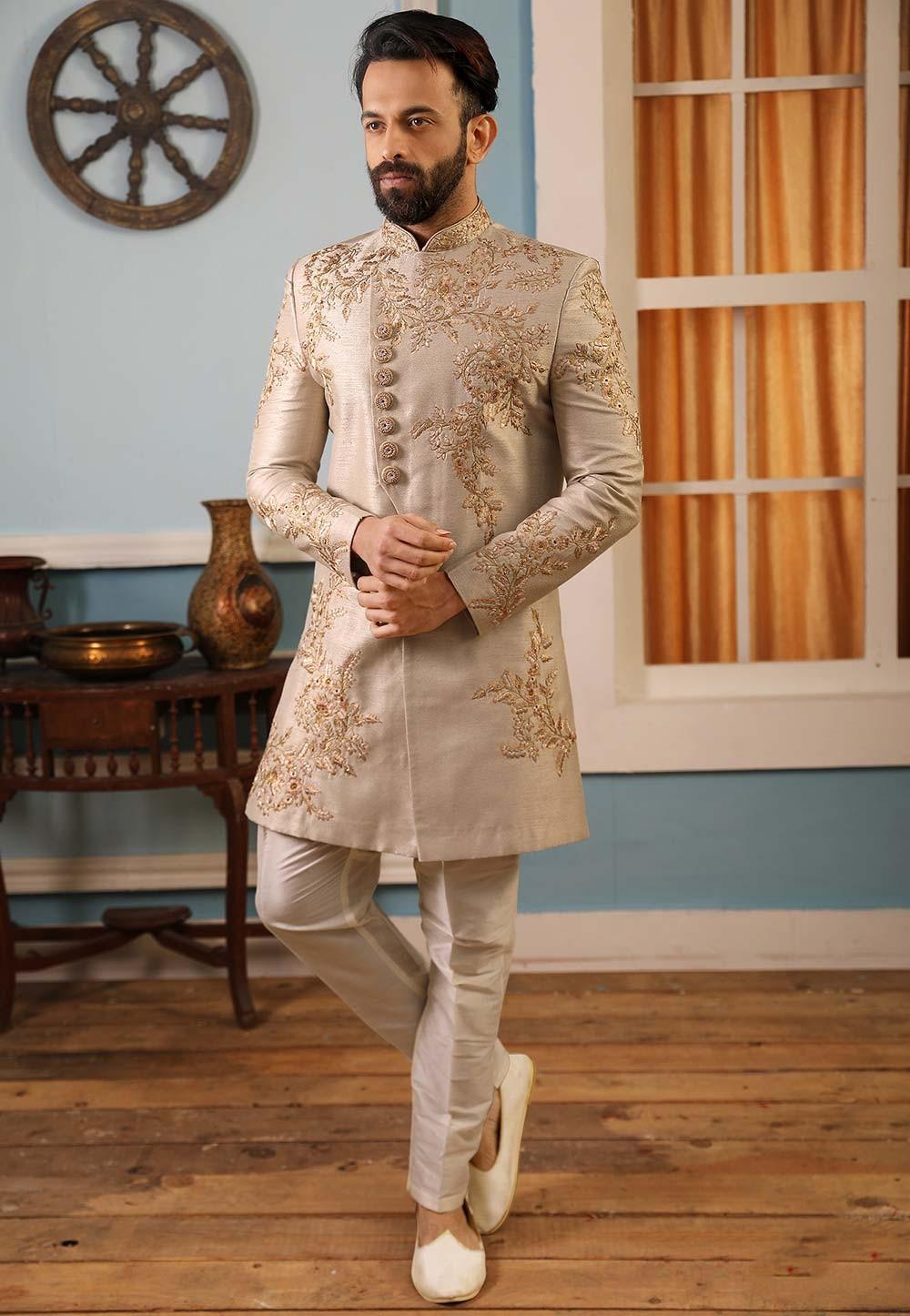 Banarasi Silk Men's Indowestern.