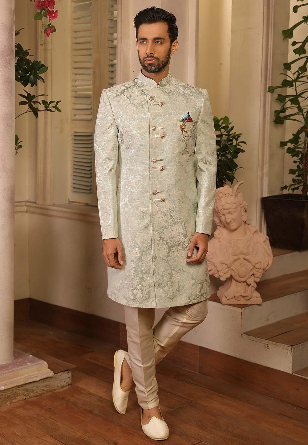 Green Colour Indian Designer Indowestern.