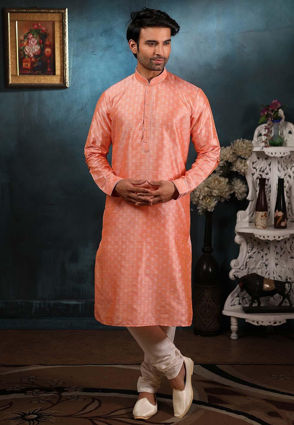 Pink Colour Readymade Kurta Pajama.