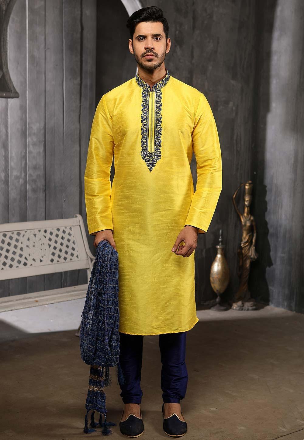 Exclusive Designer Banarasi Silk Kurta Pajama.