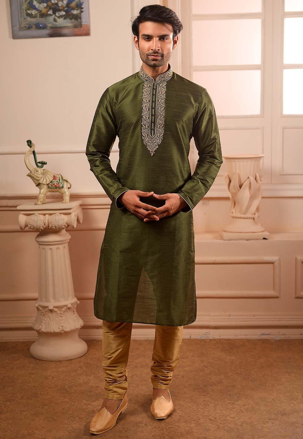 Green Colour Designer Kurta .