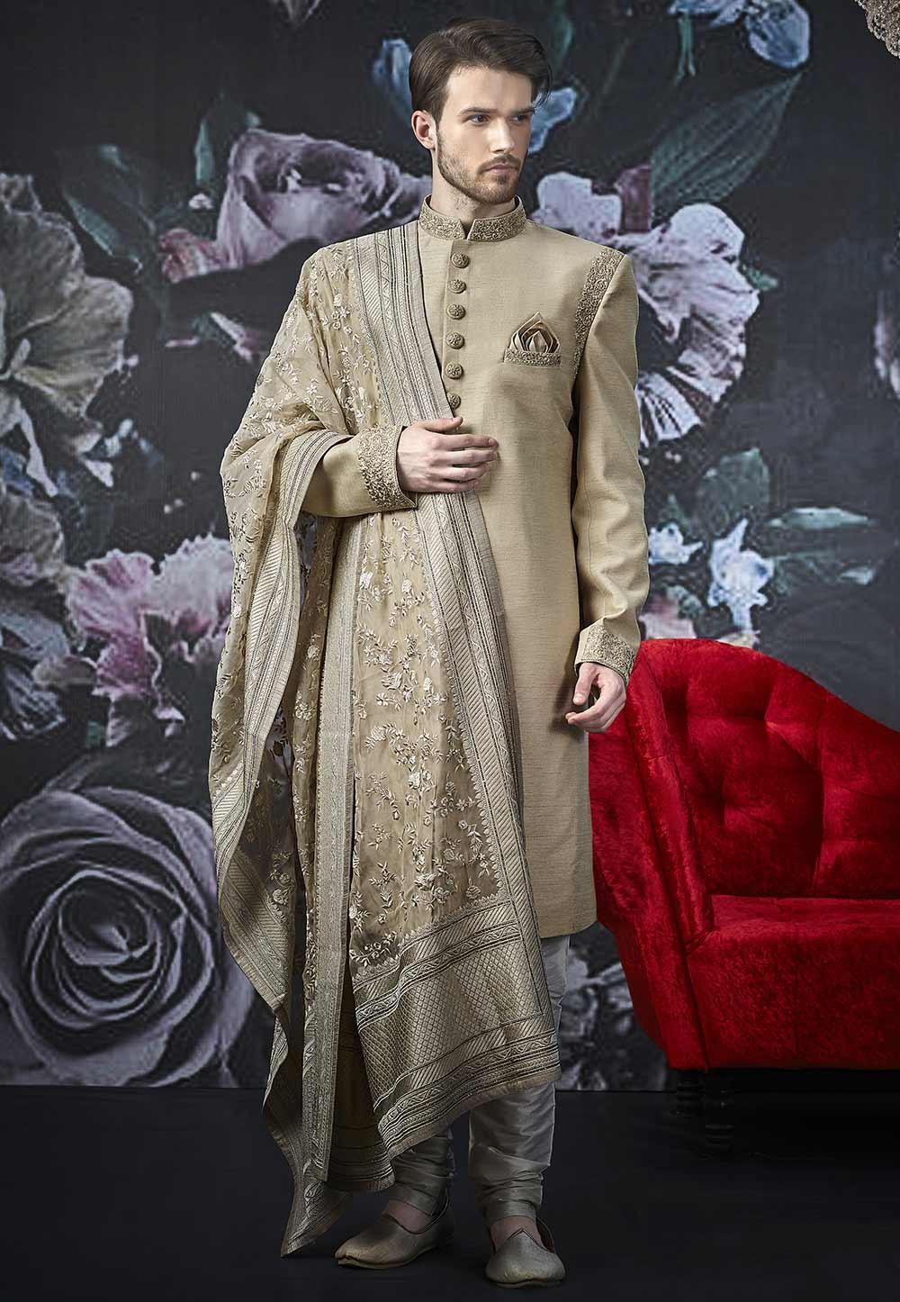 Banarasi Silk Designer Sherwani.
