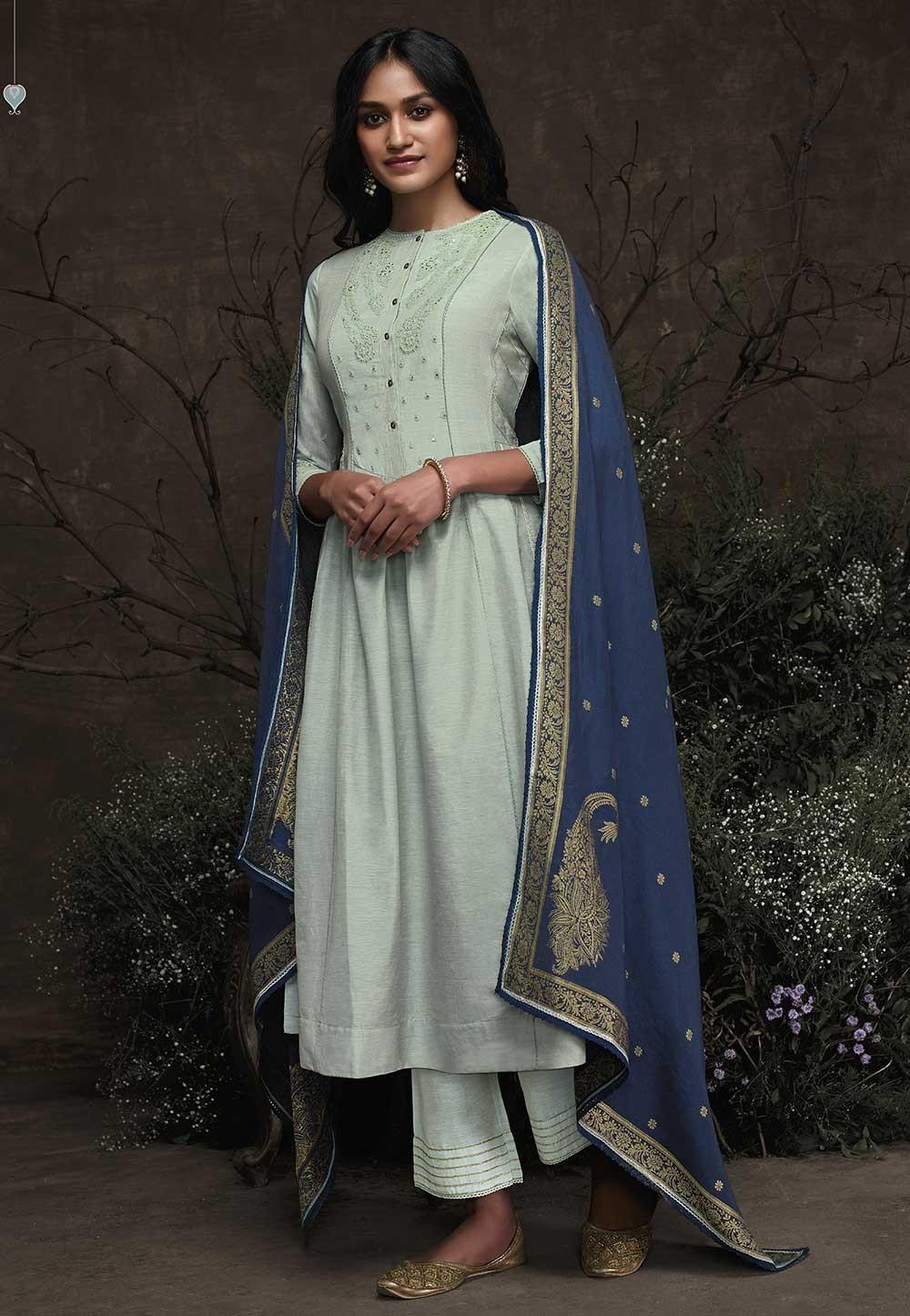 Women Salwar Suit Light Blue Colour.