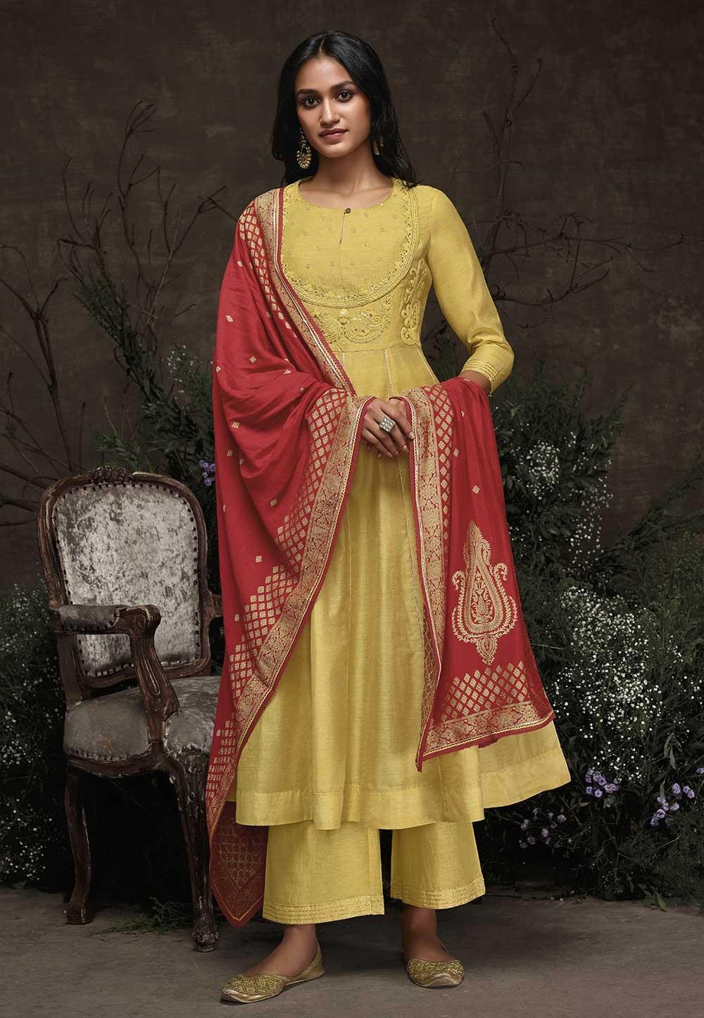 Yellow Colour Designer Salwar Kameez.
