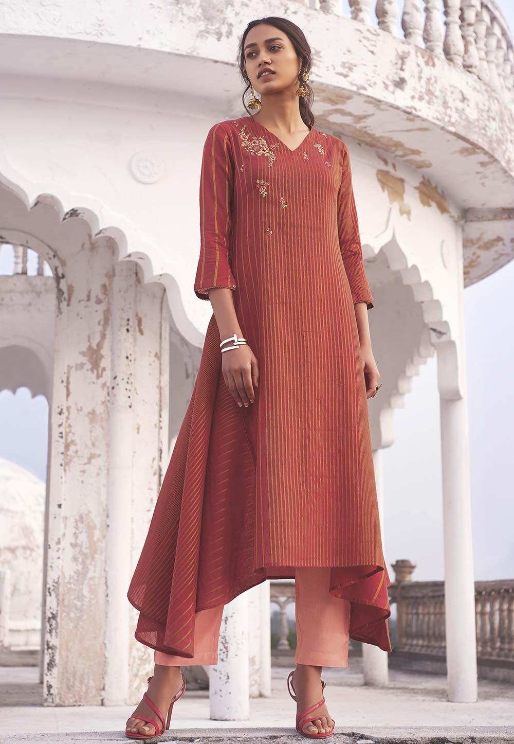 Indian Designer Kurti Red Colour.