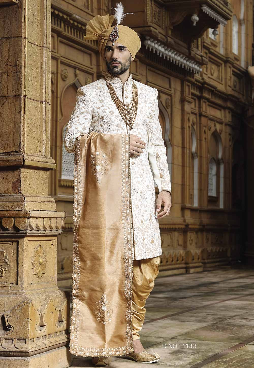 Fabulous Off White Color Designer Sherwani.