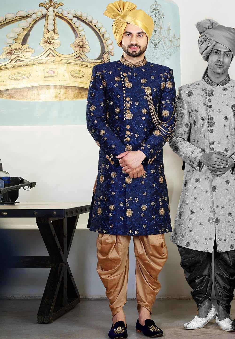 Blue Colour Indian Designer Indowestern.