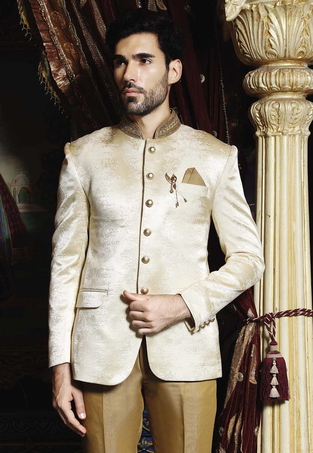 Cream Color Jodhpuri Suit: Buy Traditional Jodhpuri Suit for Men