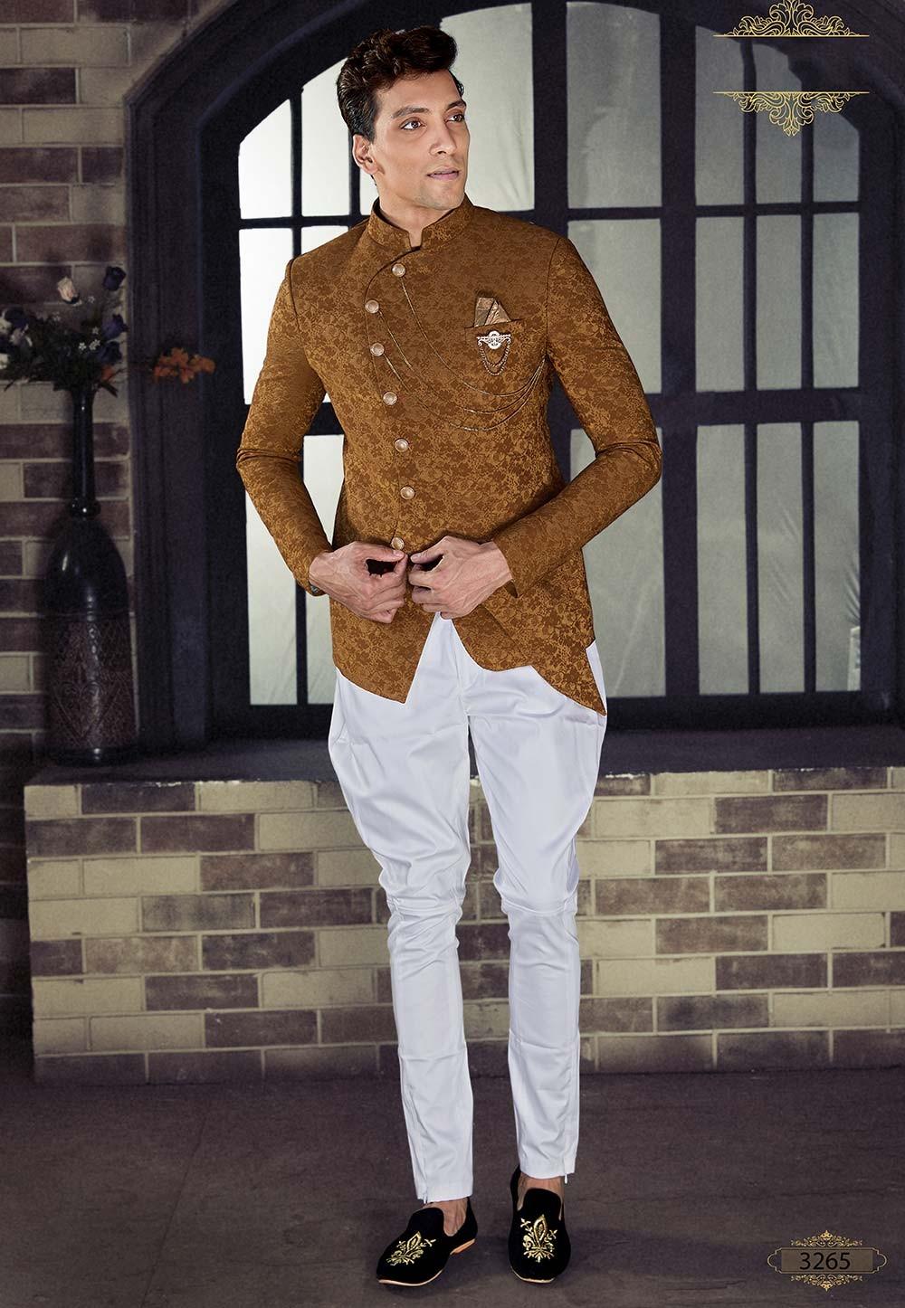 Buy designer suits for men in purple colour