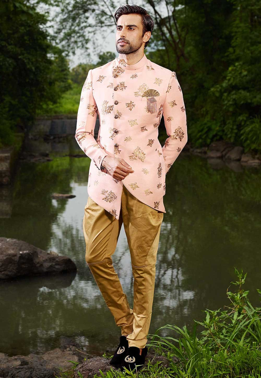 Peach Colour Men's Designer Suit.