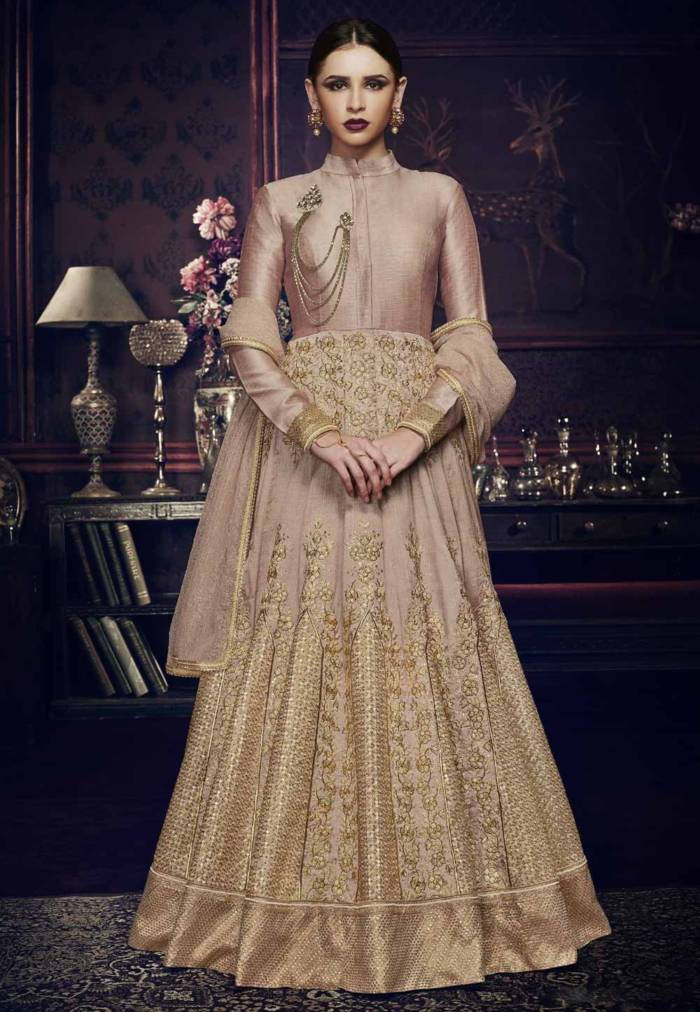Beautiful Dusty Pink Color Designer Salwar Kameez