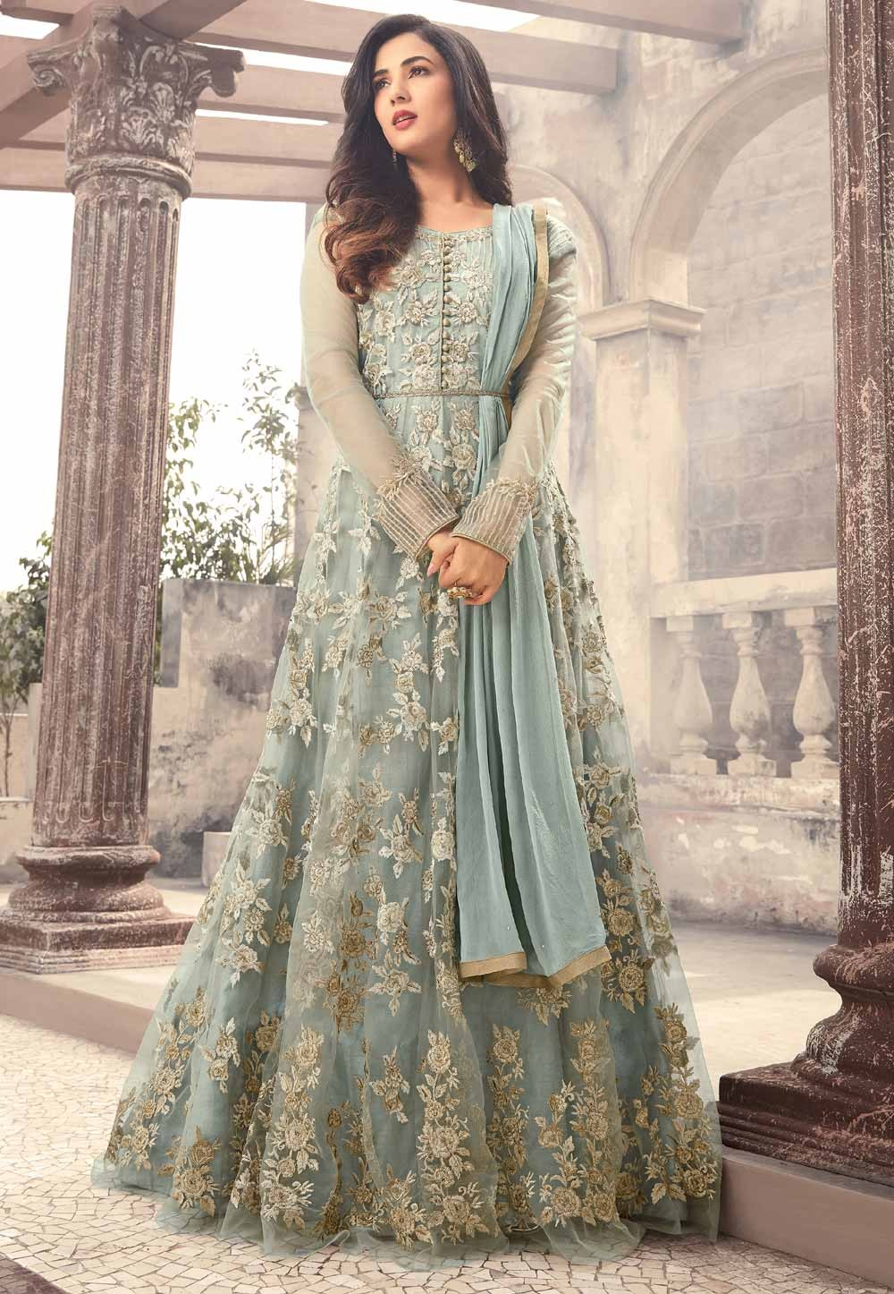 Beautiful Designer Salwar Kameez in Blue Color