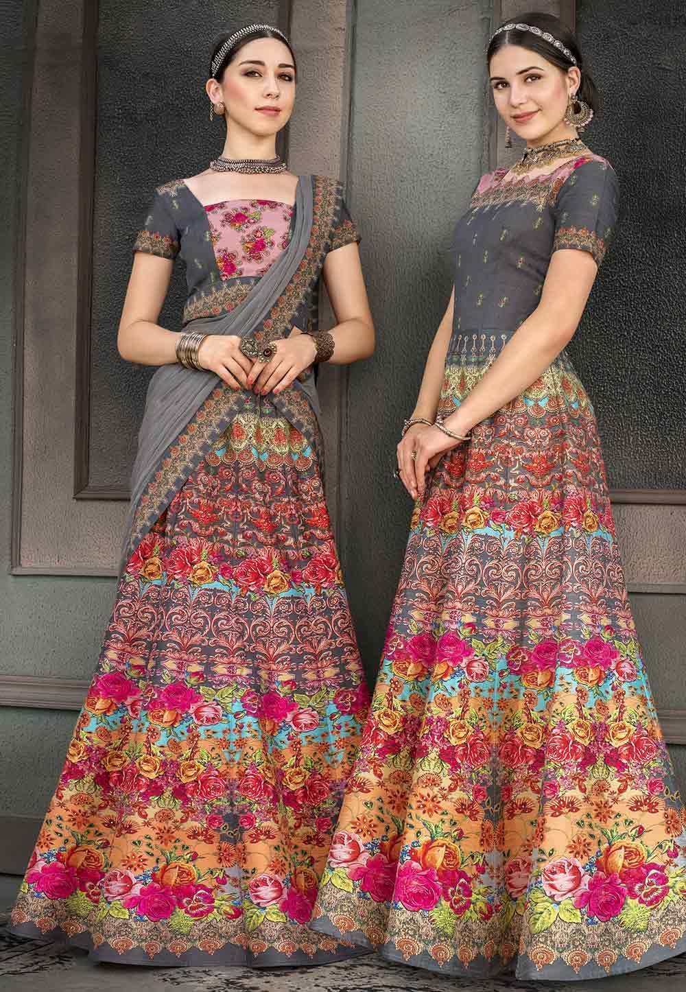 Multi Colour Lehenga Choli.