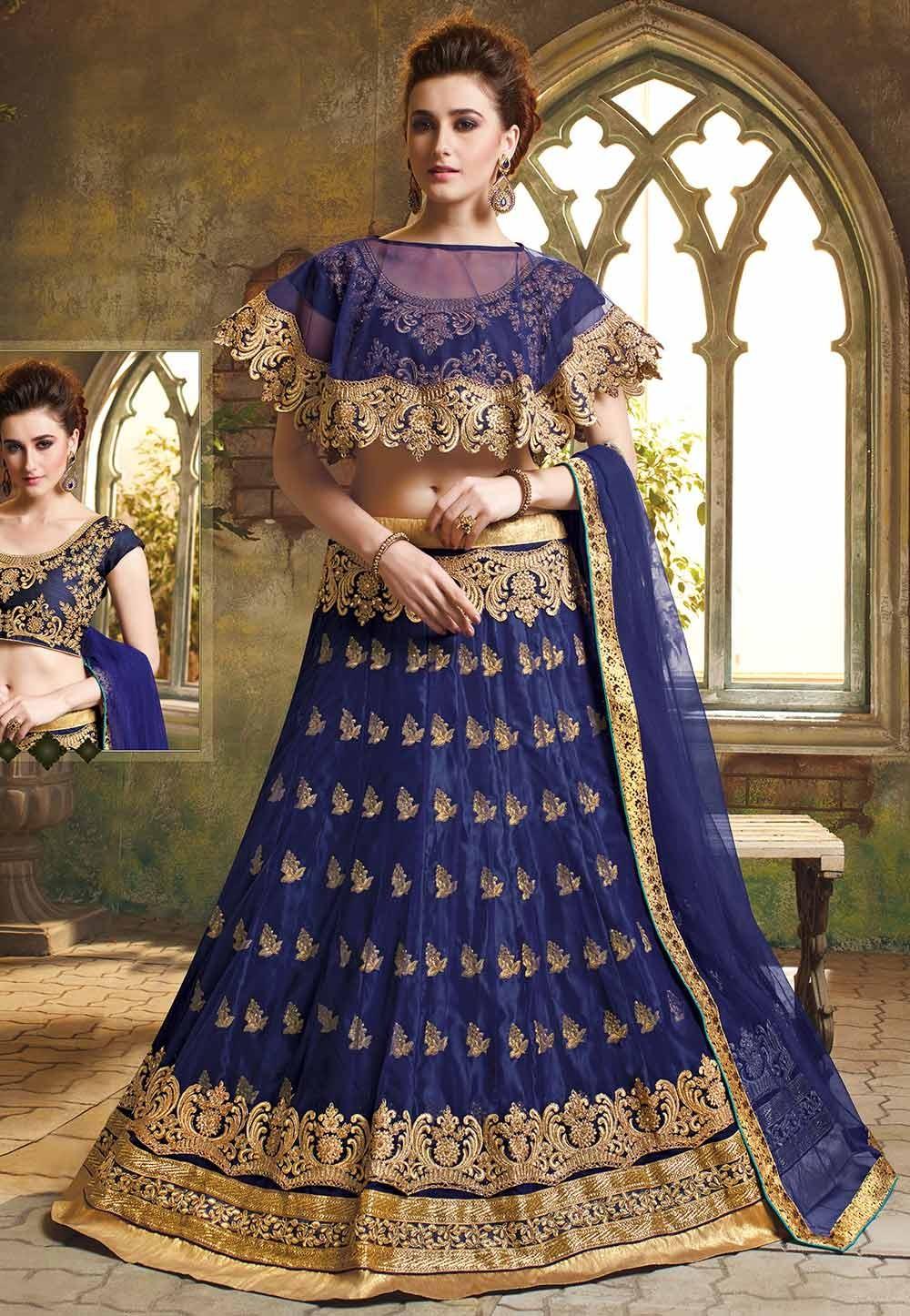 Blue Colour Designer Lehenga.