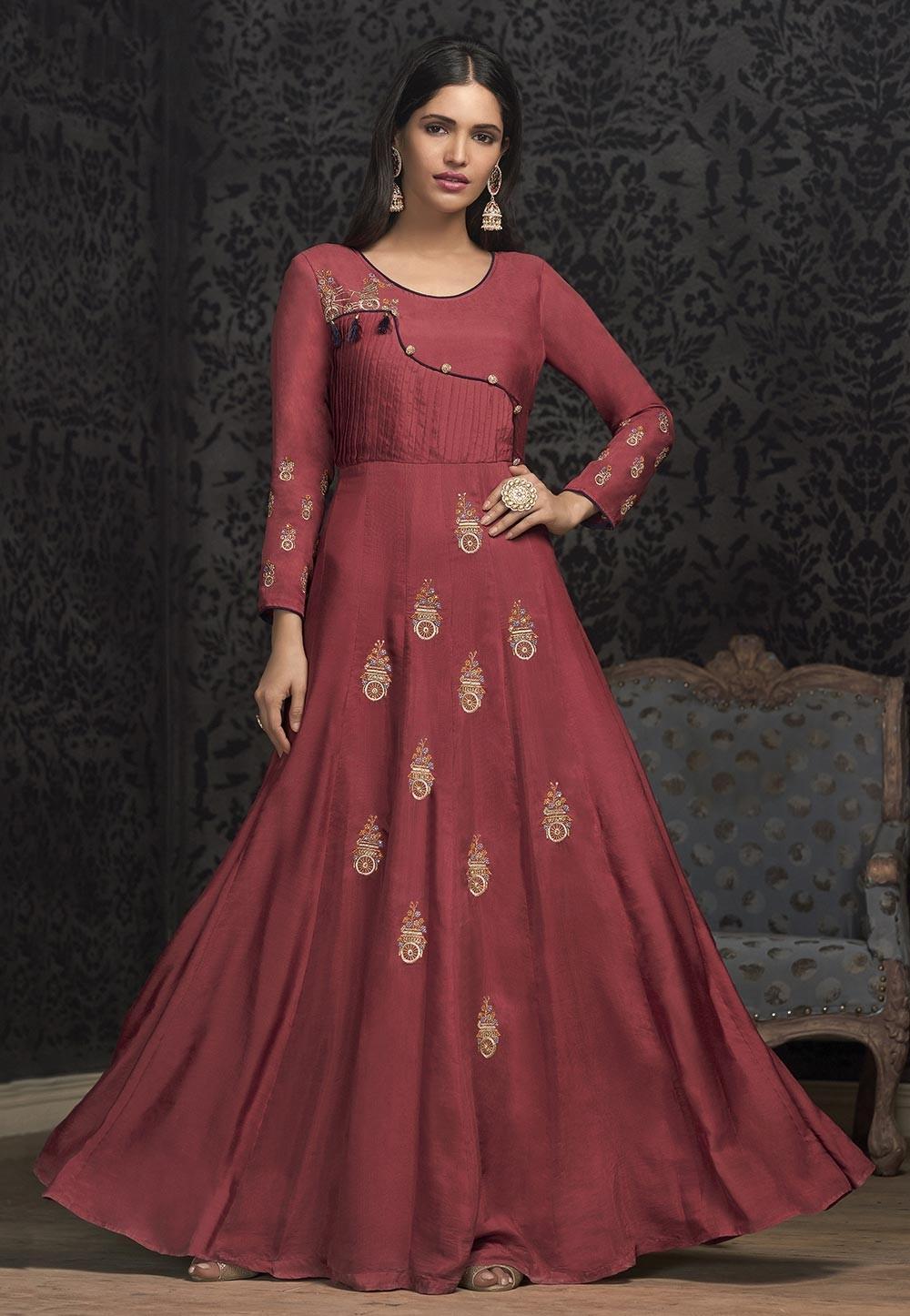 Pink Color Designer Women Gown.