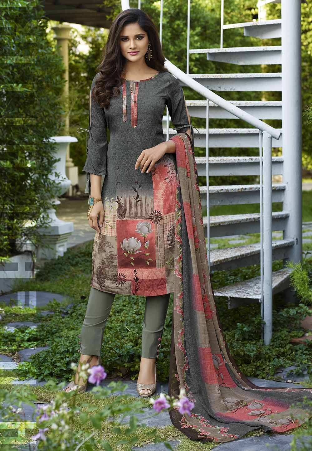 Salwar Suit Multi Colour.