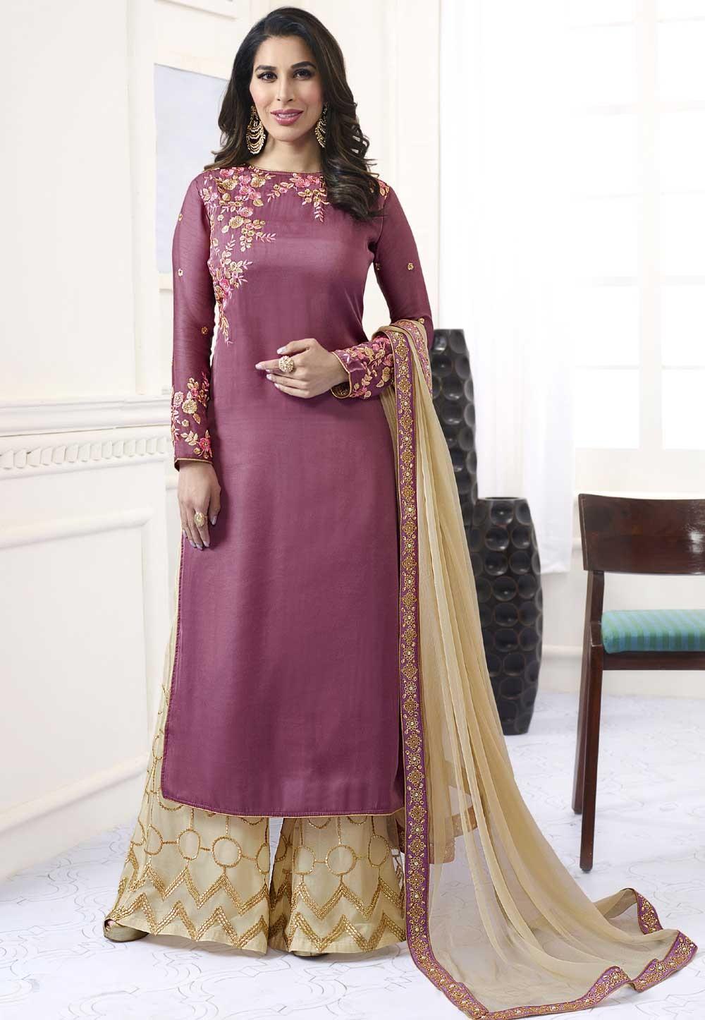 Magenta Color Designer Salwar Kameez