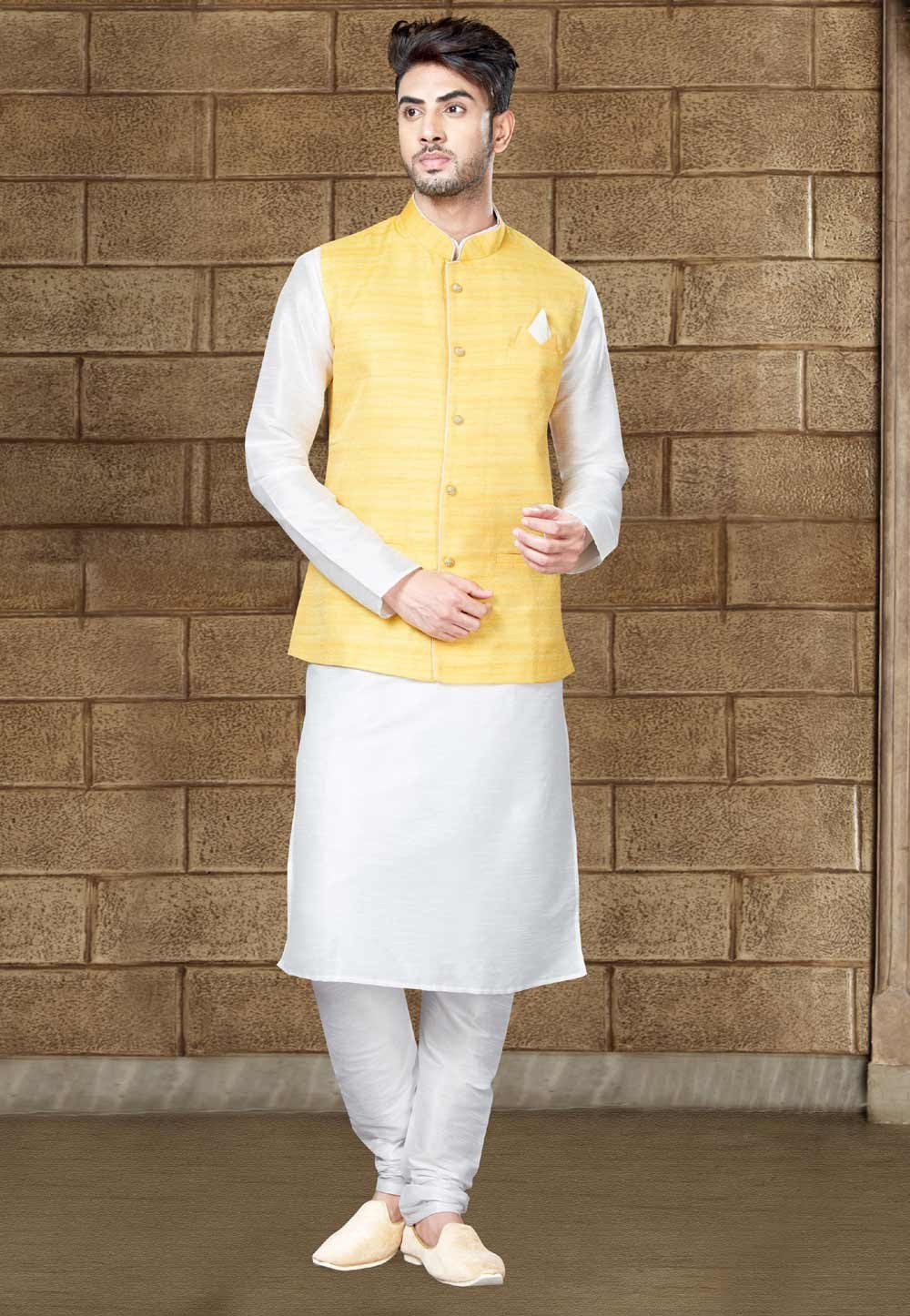 Buy Off white Indian kurta pajama online