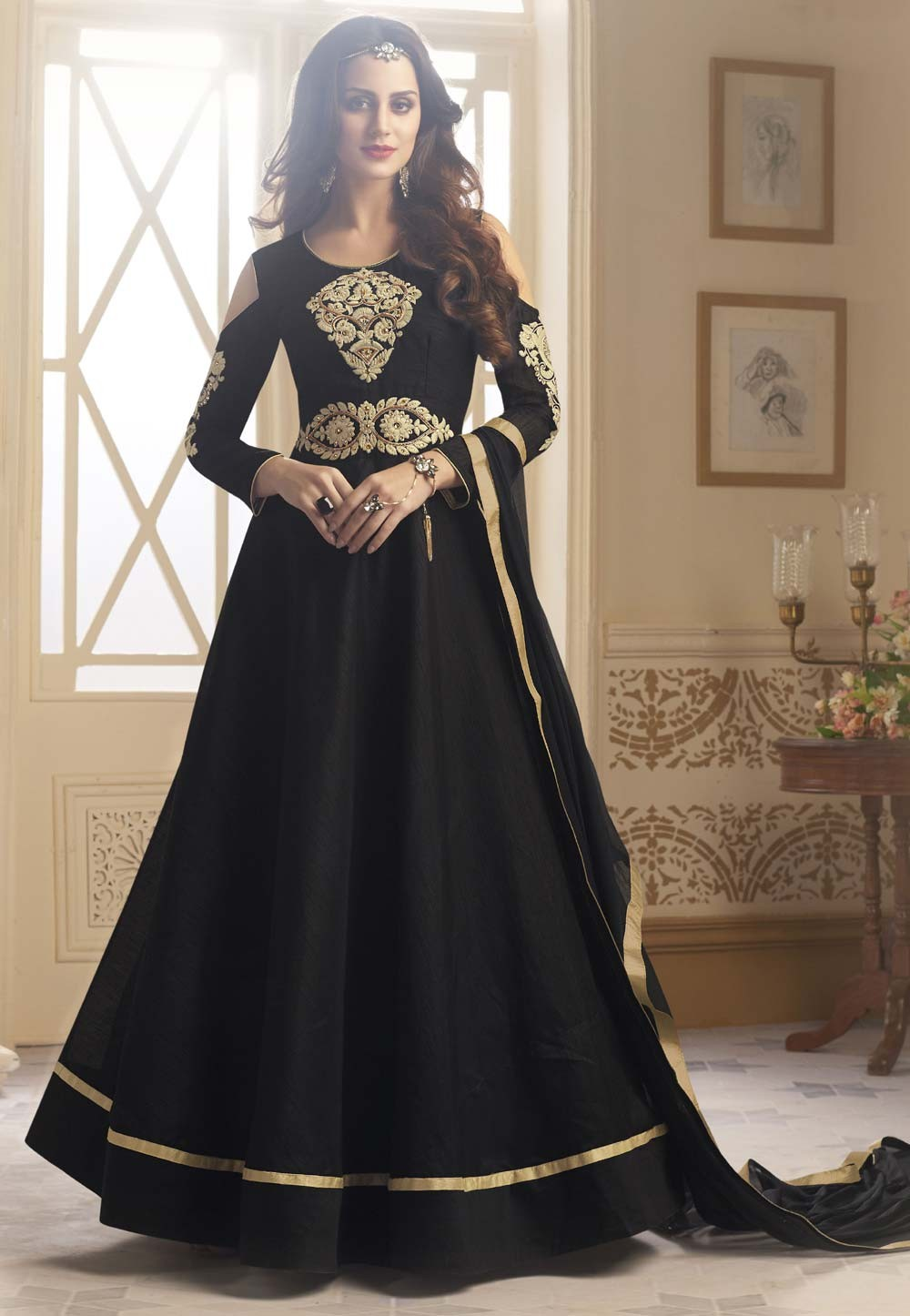 Black Color Party Wear Salwar Kameez