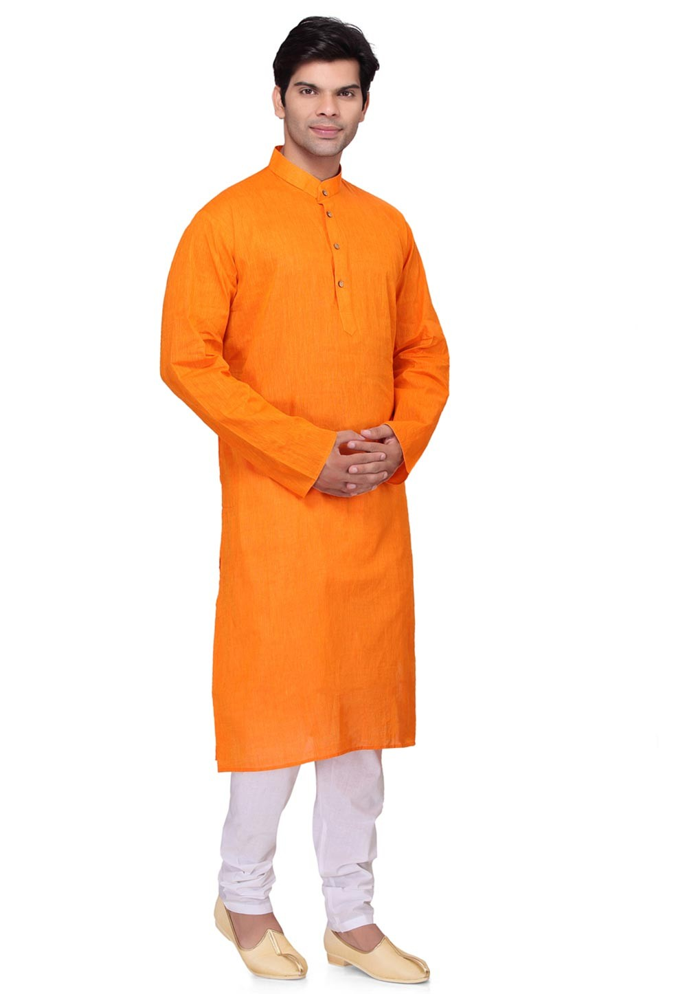 Attractive Orange Color Readymade Kurta Pyjama