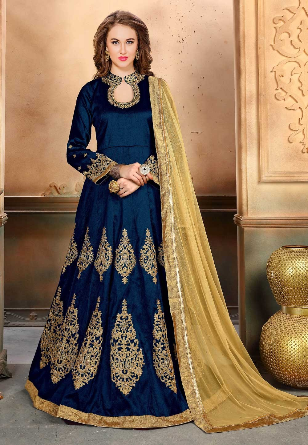 Nice Looking Blue Color Party Wear Salwar Kameez