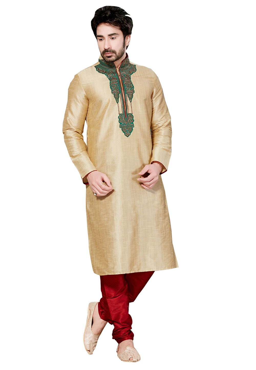 Exquisite Boy's Blue Color Cotton Silk Readymade Kurta Set