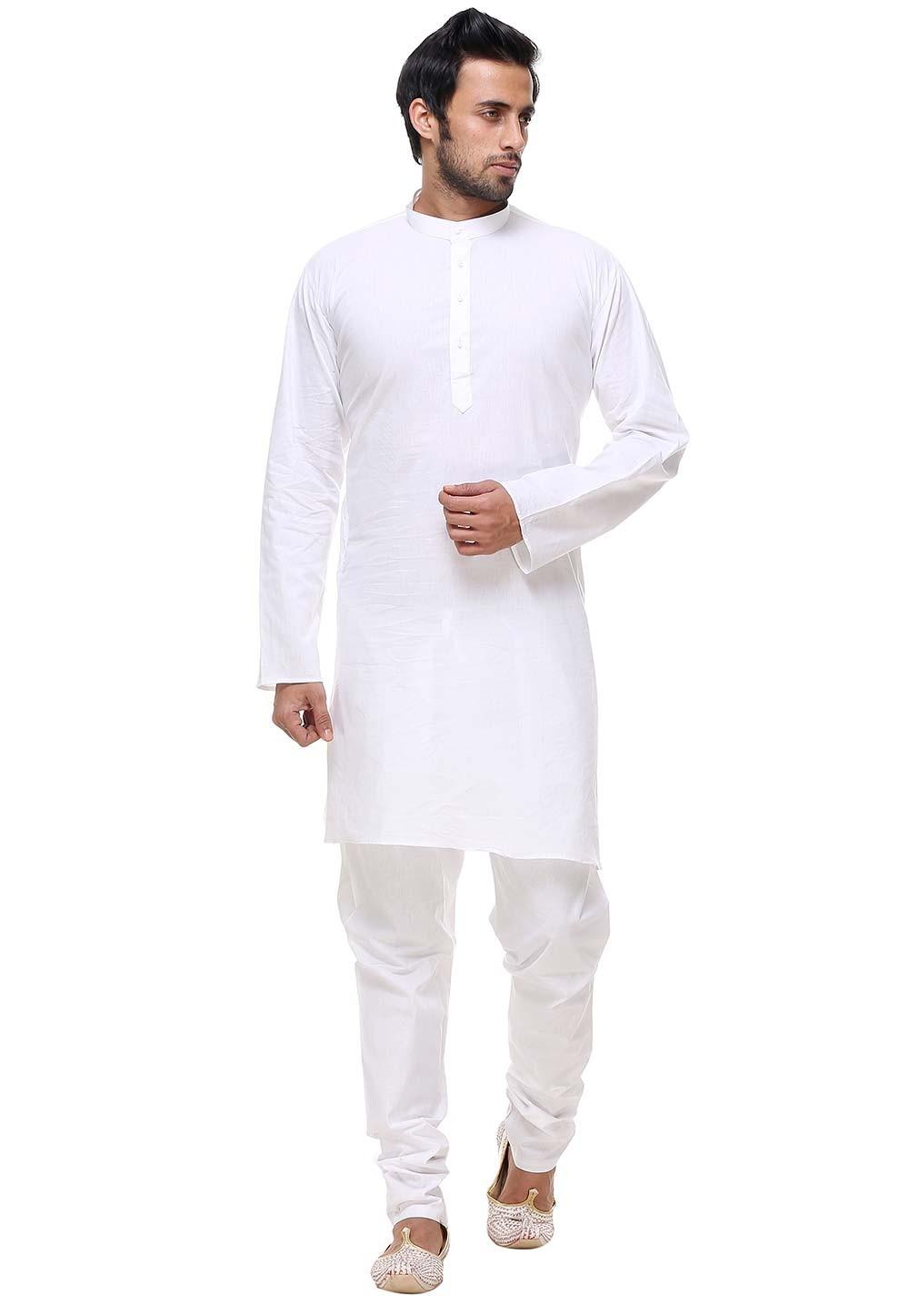 White Color Readymade Kurta Pajama.
