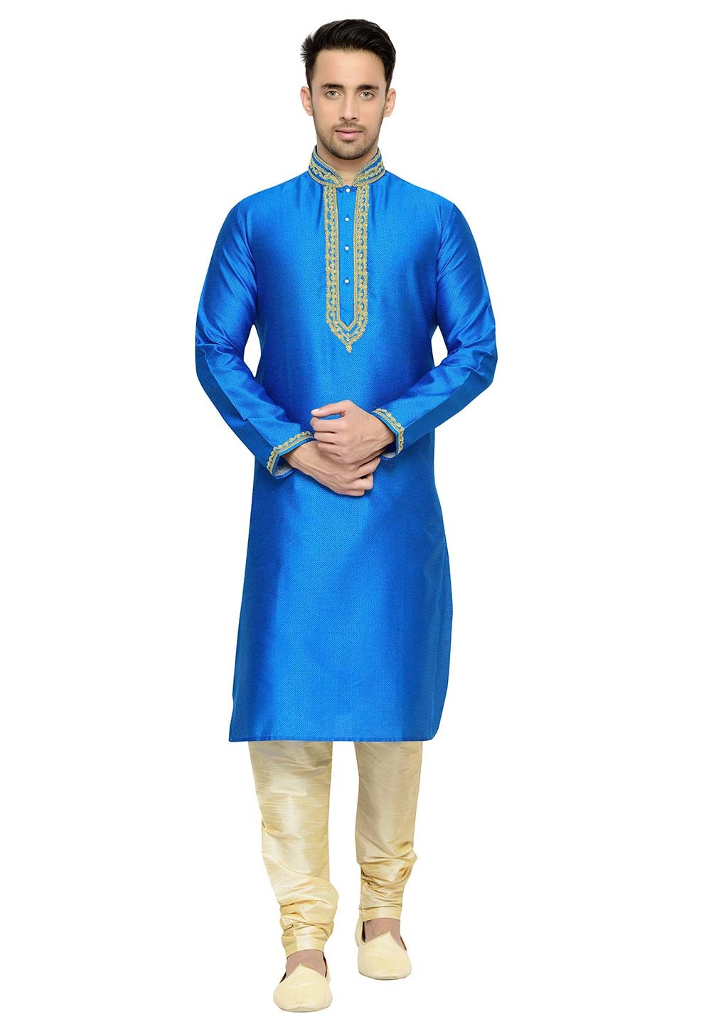 Blue Color Designer Kurta Pajama.