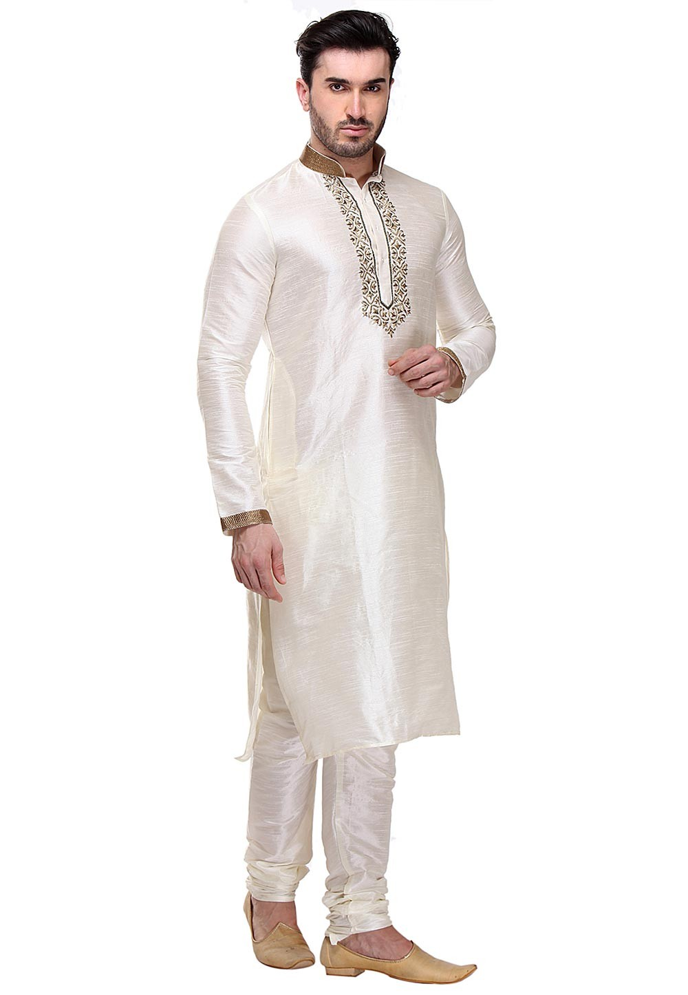 Cream Color Designer Kurta Pajama.