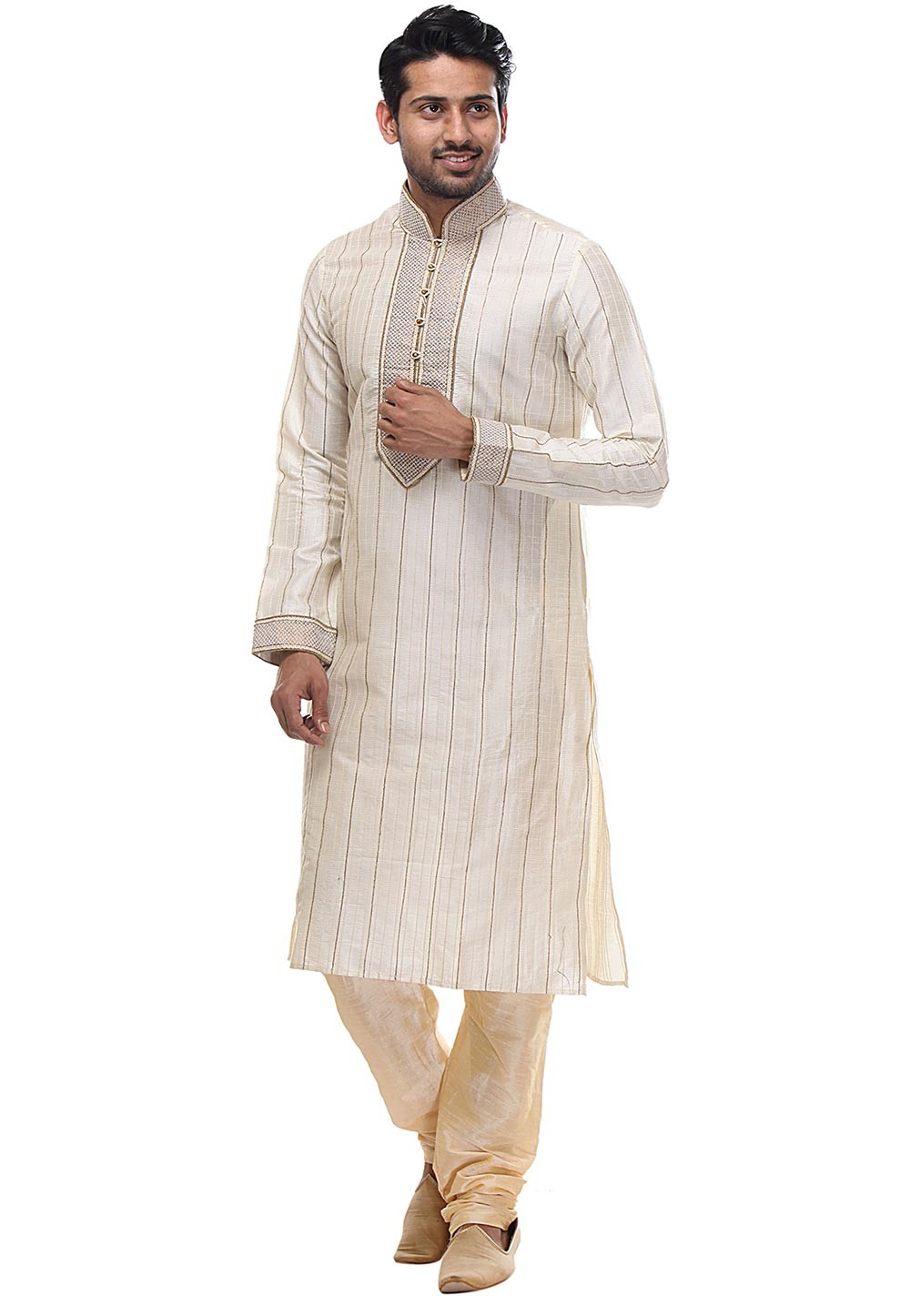 Cream Color Kurta Pajama.