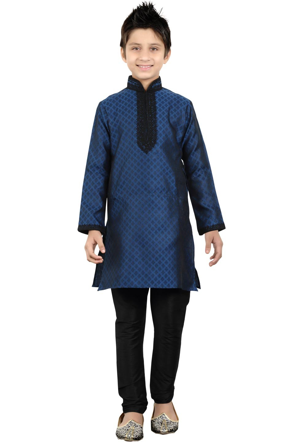 Blue Color Boy's Readymade Kurta Pajama.
