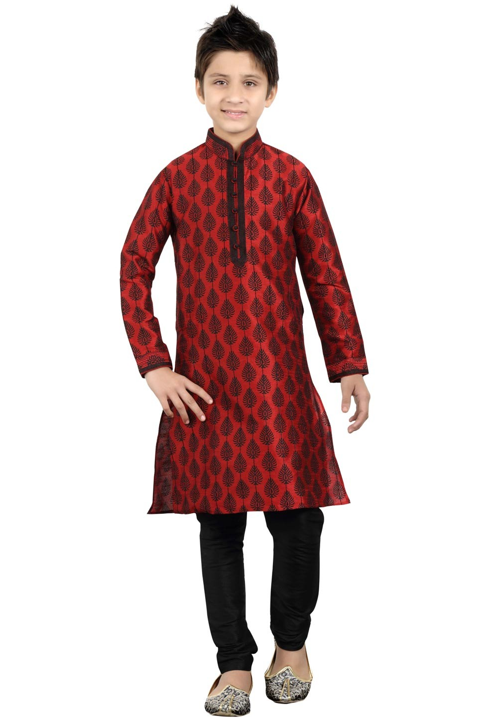 Maroon Color Boy's Party Wear Kurta Pajama.