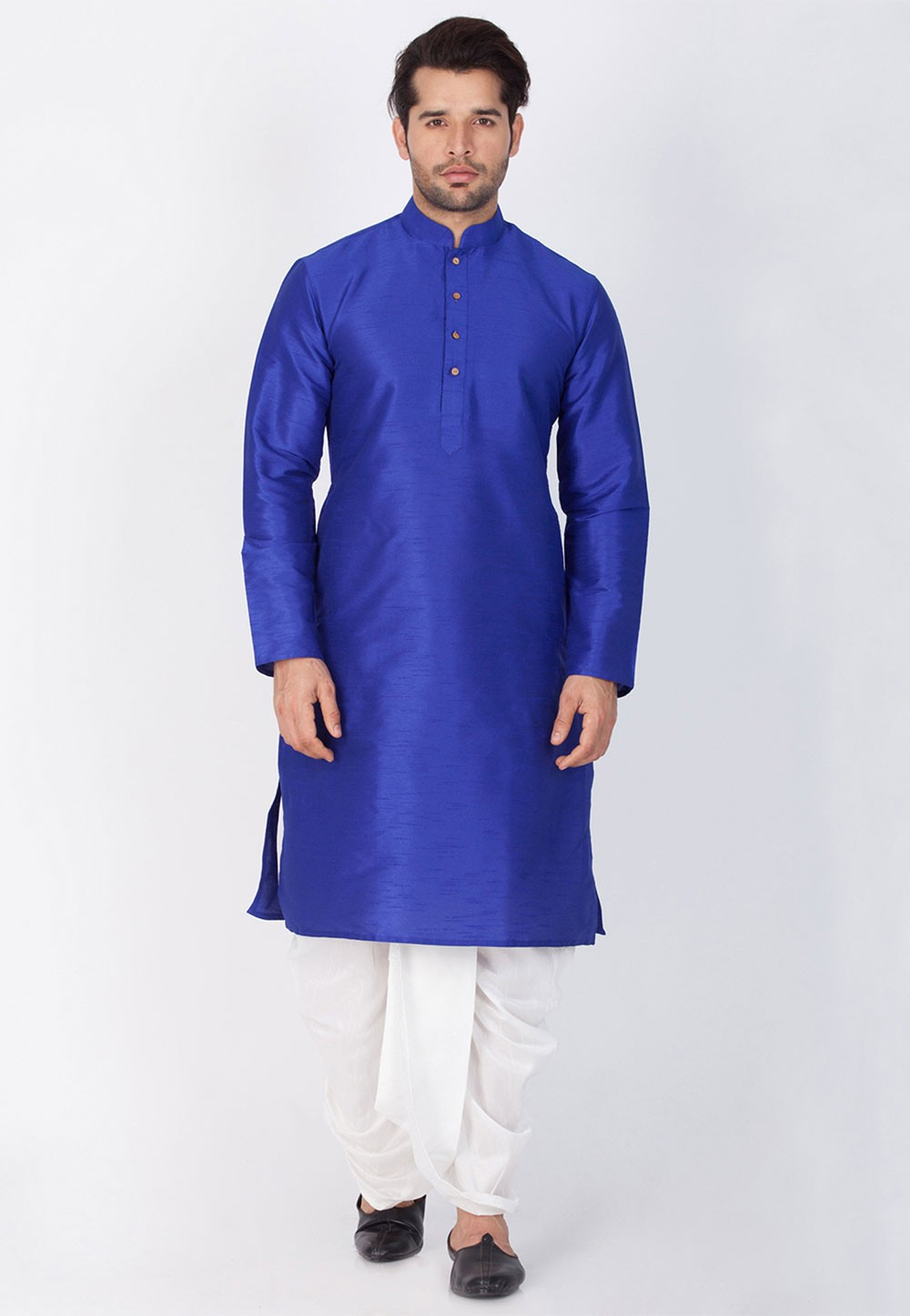 Buy Dhoti Kurta Online |  Blue Color Party Wear
