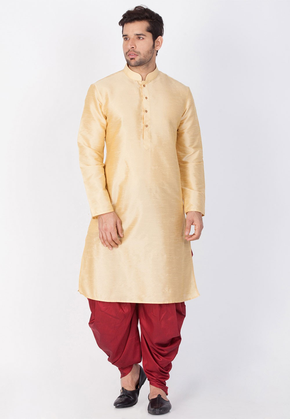 Golden Color Designer Dhoti Kurta online India