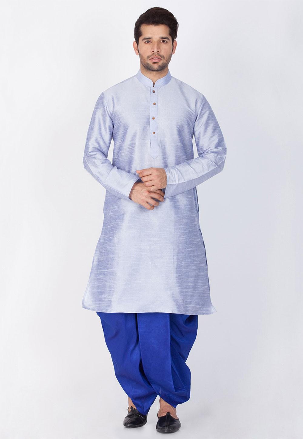 Blue Color Dhoti Kurta Online India